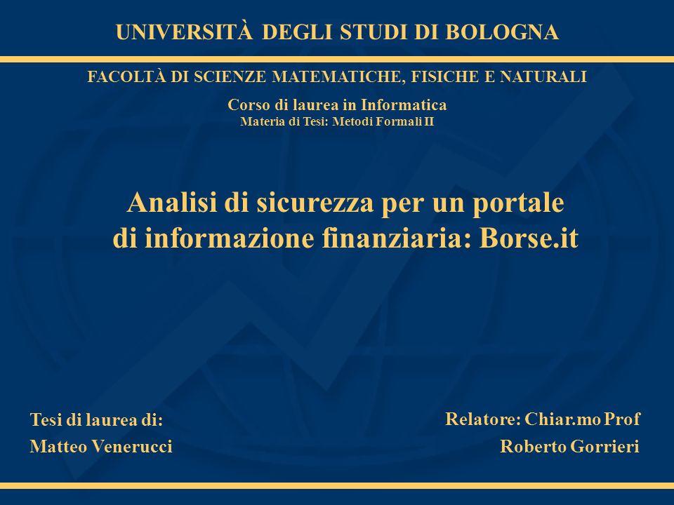 Matteo Venerucci Progettazione, realizzazione e aggiornamento per garantire la riservatezza e lintegrità dei sistemi.