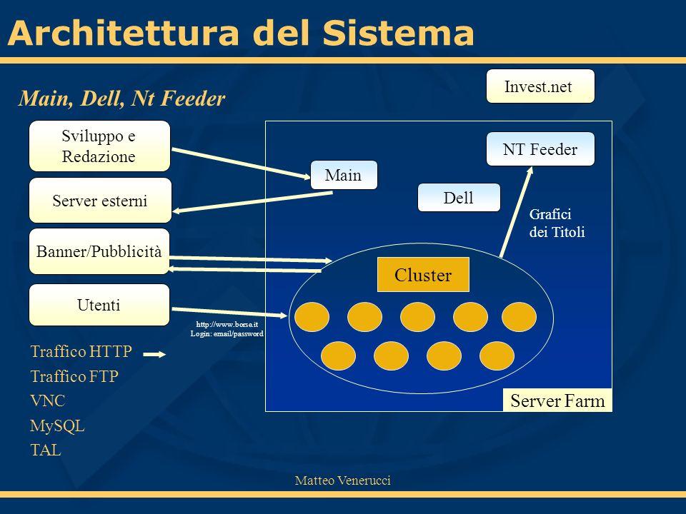 Matteo Venerucci Modifica a tutti gli script Modifiche a Nt Feeder È stato necessario riscrivere gli script che utilizzavano le connessioni HTTP.
