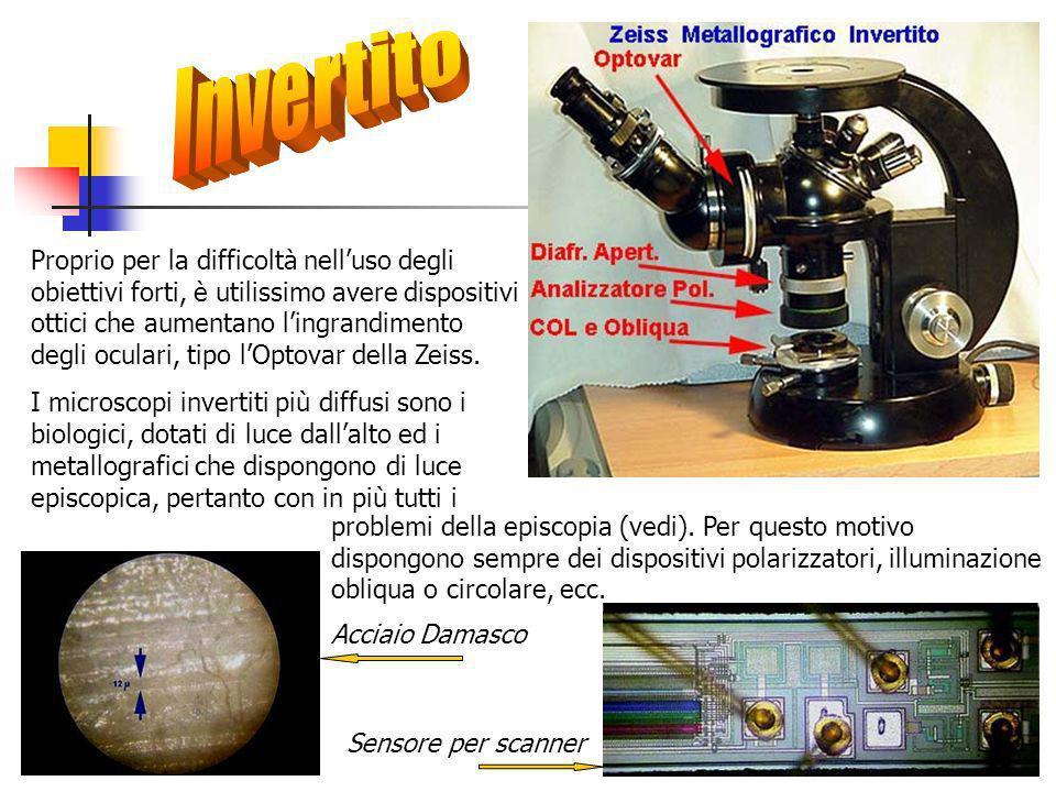 Proprio per la difficoltà nelluso degli obiettivi forti, è utilissimo avere dispositivi ottici che aumentano lingrandimento degli oculari, tipo lOptovar della Zeiss.