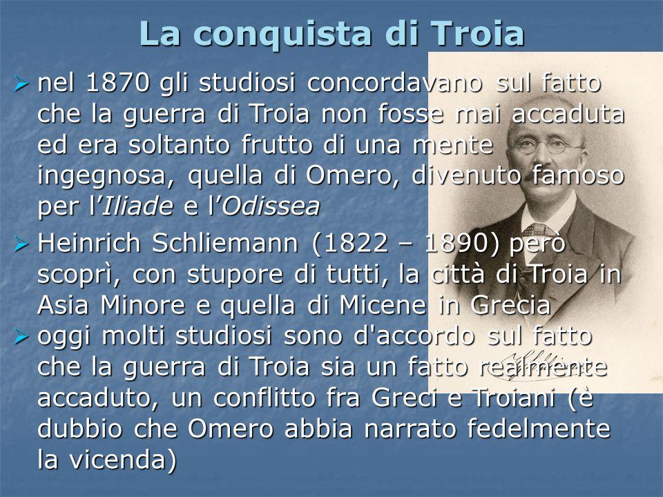 nel 1870 gli studiosi concordavano sul fatto che la guerra di Troia non fosse mai accaduta ed era soltanto frutto di una mente ingegnosa, quella di Om