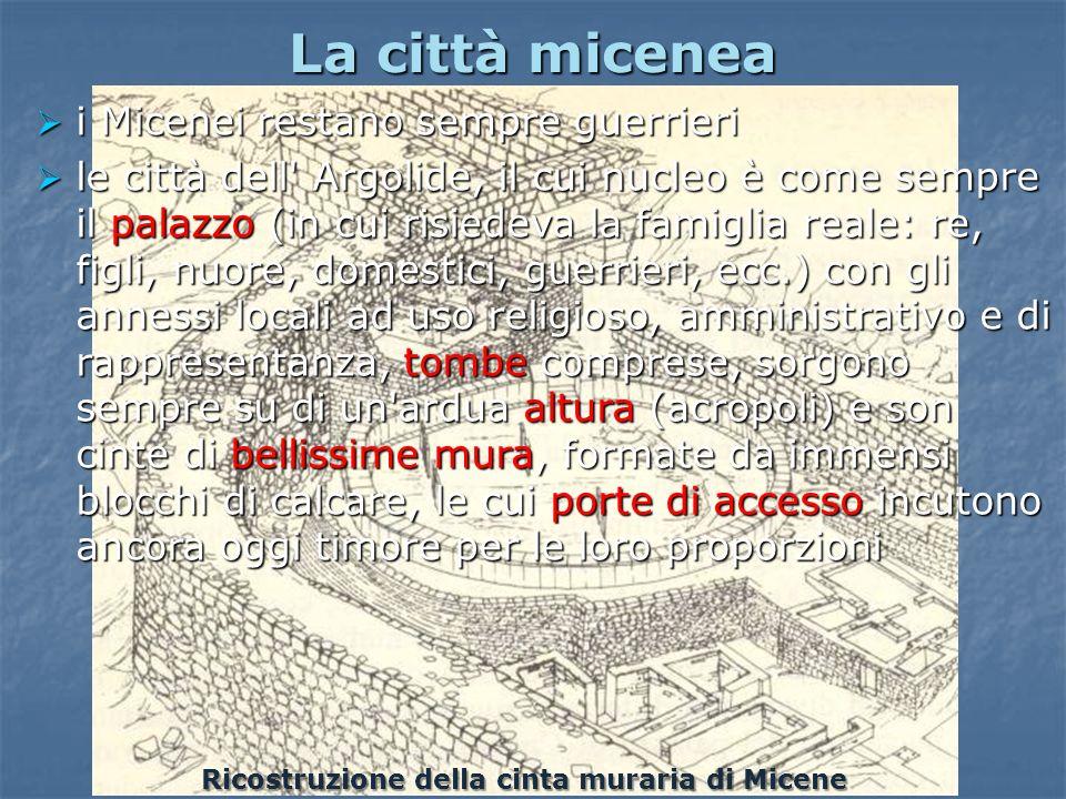 La città micenea i Micenei restano sempre guerrieri i Micenei restano sempre guerrieri le città dell' Argolide, il cui nucleo è come sempre il palazzo