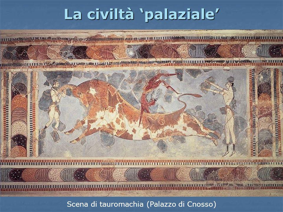 La civiltà palaziale Scena di tauromachia (Palazzo di Cnosso)