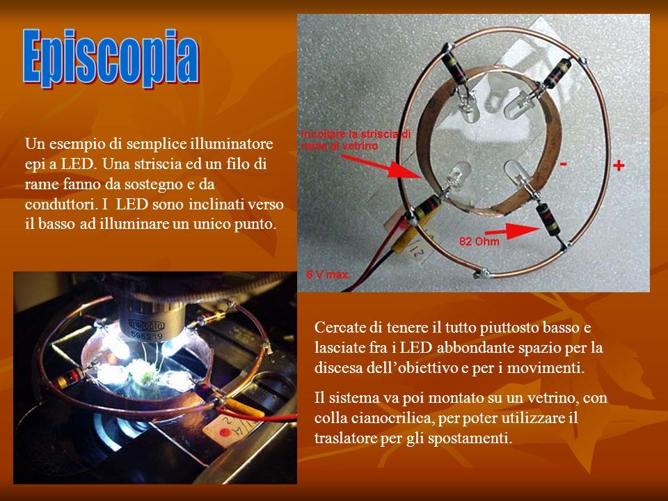 Un esempio di semplice illuminatore epi a LED.