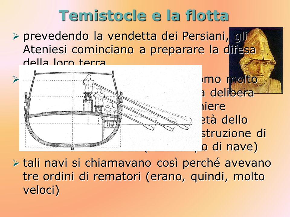 Temistocle e la flotta prevedendo la vendetta dei Persiani, gli Ateniesi cominciano a preparare la difesa della loro terra prevedendo la vendetta dei