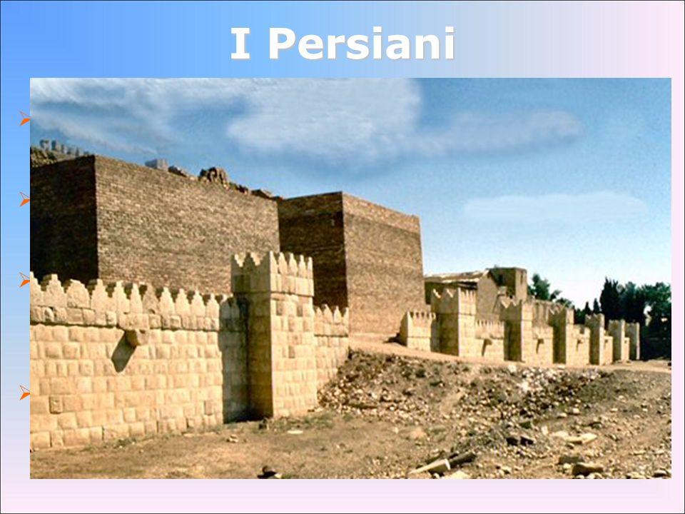 I Persiani la civiltà persiana nacque nellaltopiano iranico, nel cuore dellAsia già nel IX secolo combattono contro gli Assiri intorno alla metà del V