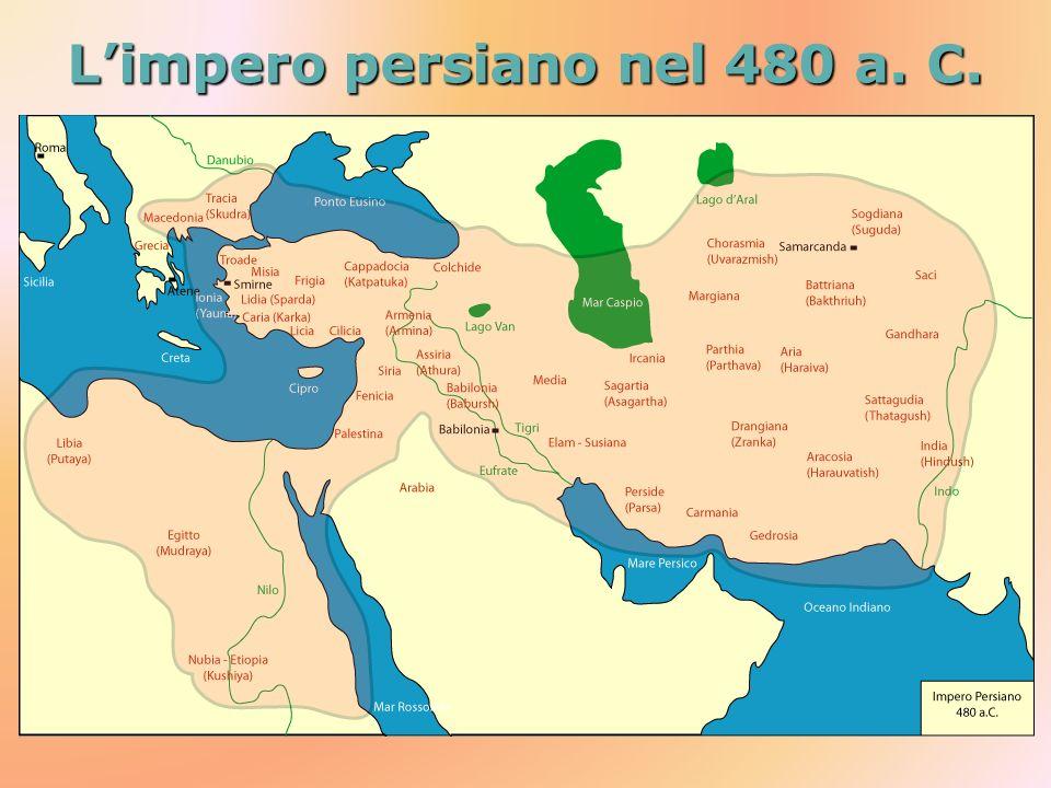 Limpero persiano nel 480 a. C.