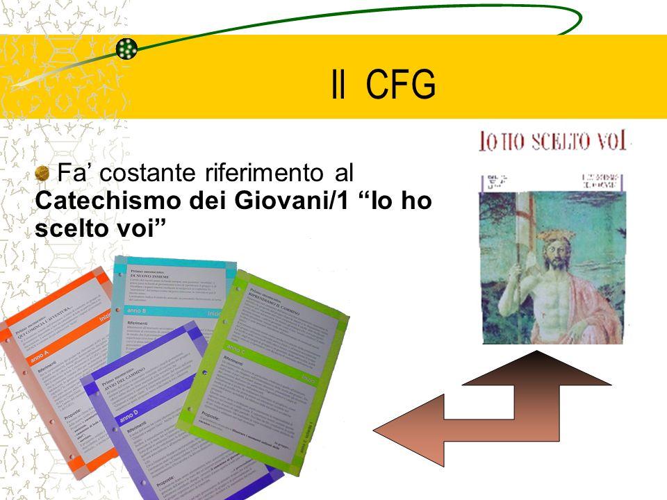 Il CFG Fa costante riferimento al Catechismo dei Giovani/1 Io ho scelto voi