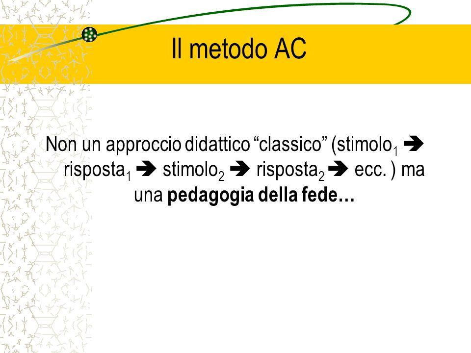 Il metodo AC Non un approccio didattico classico (stimolo 1 risposta 1 stimolo 2 risposta 2 ecc.