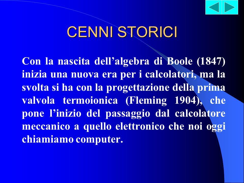 CENNI STORICI Il calcolatore è una macchina che esegue istruzioni, compie calcoli.