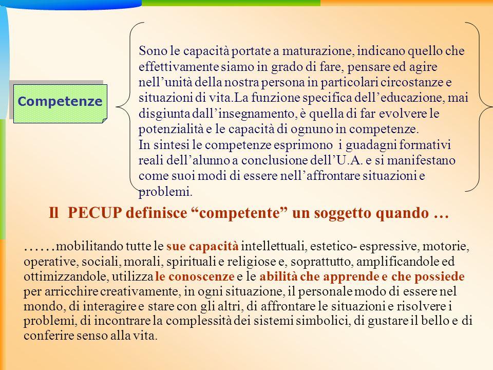 Le capacità personali diventano competenze personali grazie allinsieme degli interventi educativi promossi da tutte le istituzioni educative formali e non formali.
