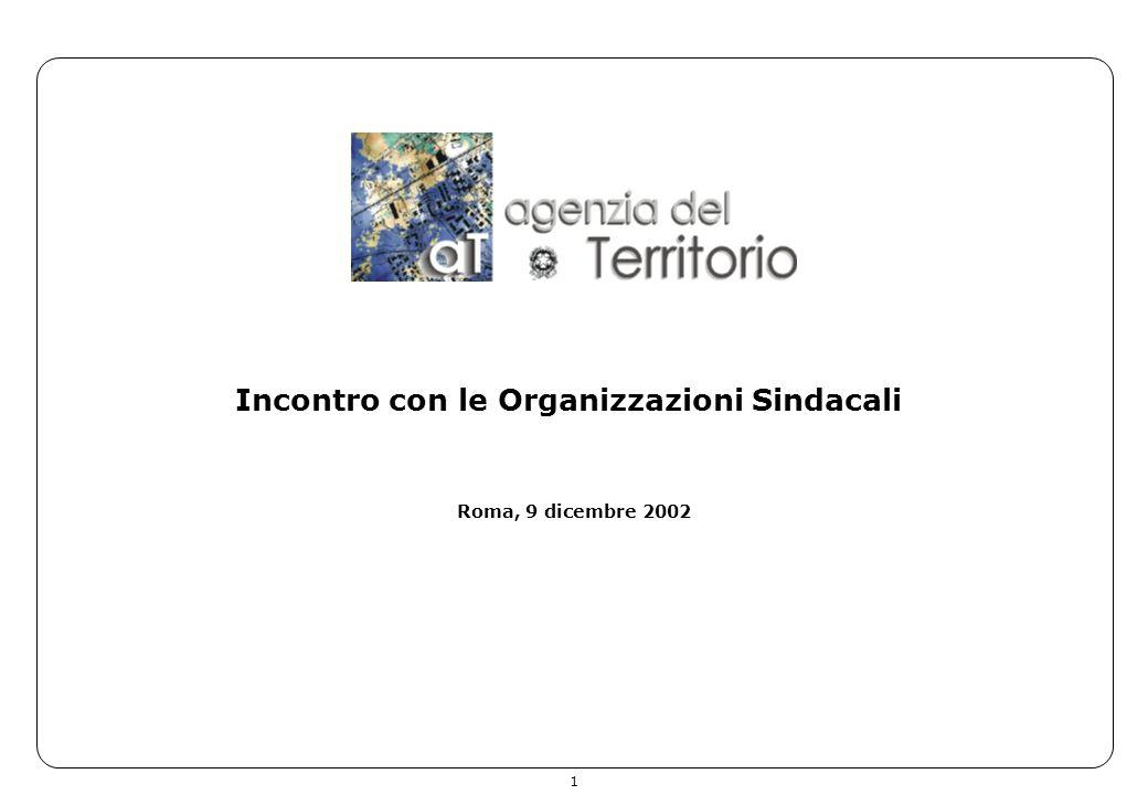 1 Incontro con le Organizzazioni Sindacali Roma, 9 dicembre 2002