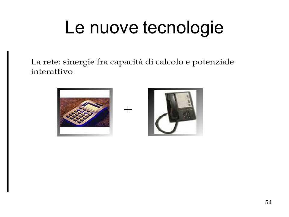 54 Le nuove tecnologie