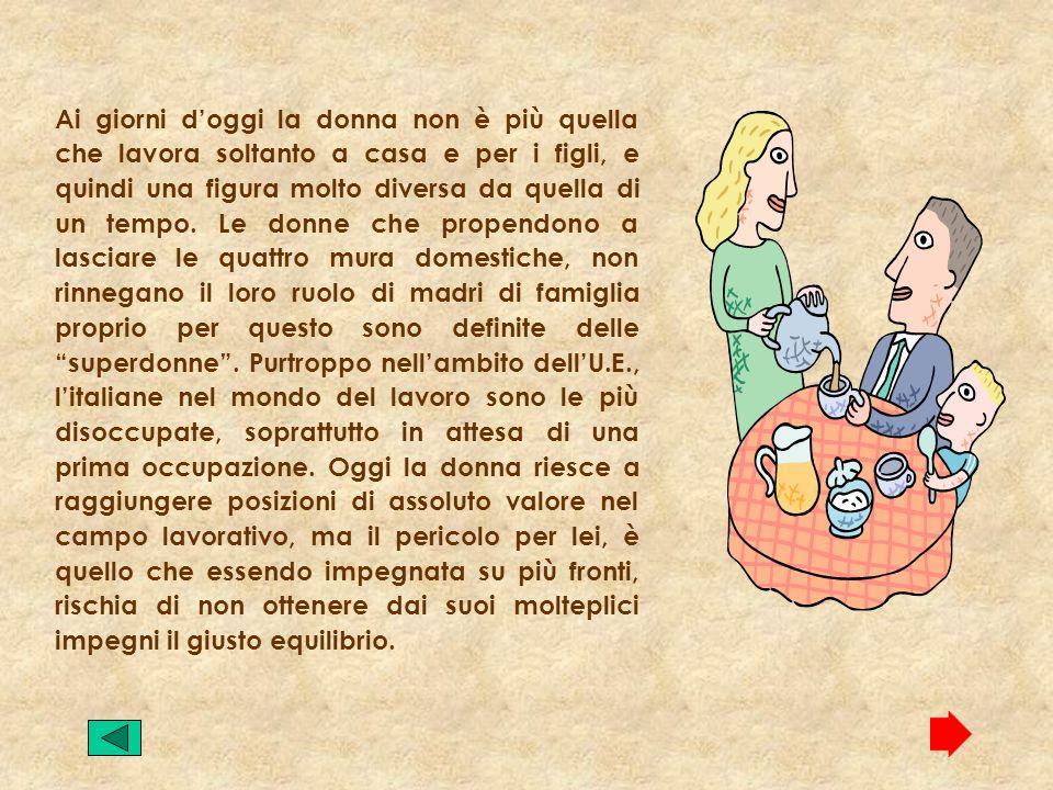 Nel 69 fu promosso dal Partito Radicale il Movimento per la liberazione della donna (M.l.d.). Nel 1975, il parlamento italiano approva una legge che v