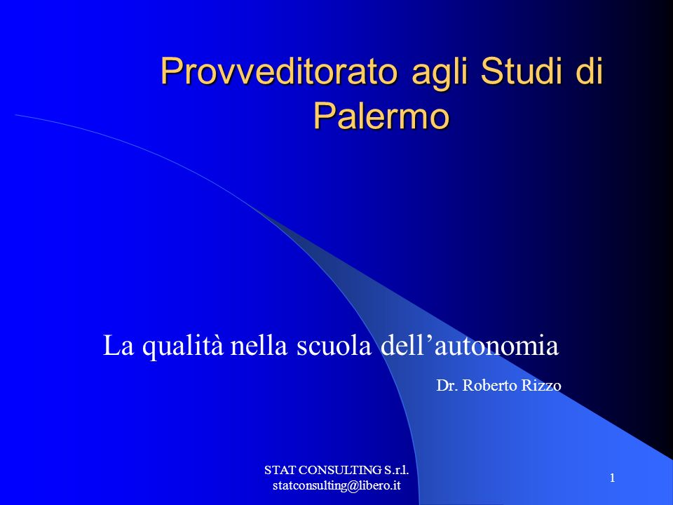 STAT CONSULTING S.r.l. statconsulting@libero.it 2 Bisogna educare i Capi Platone