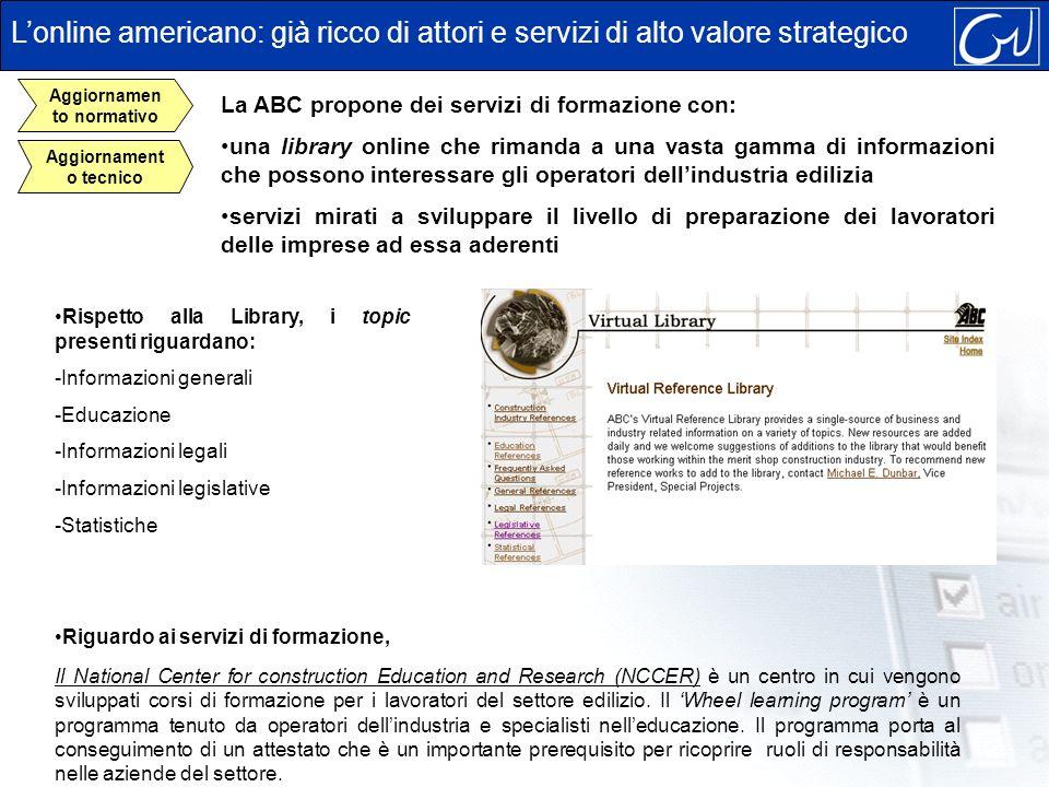 Rispetto alla Library, i topic presenti riguardano: -Informazioni generali -Educazione -Informazioni legali -Informazioni legislative -Statistiche Lon