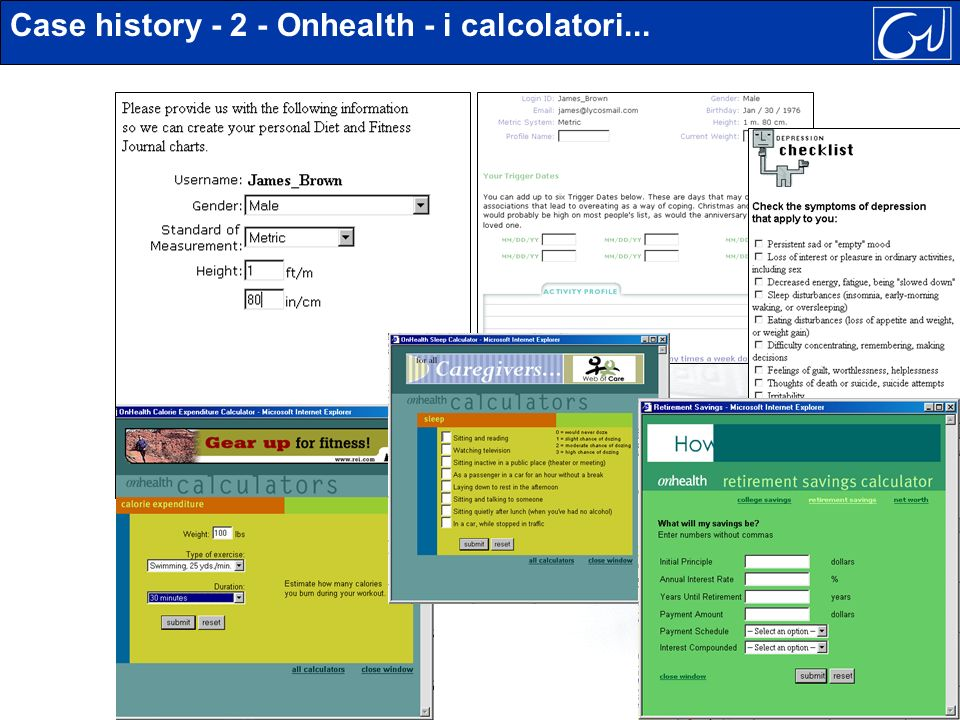 Case history - 2 - Onhealth - i calcolatori...