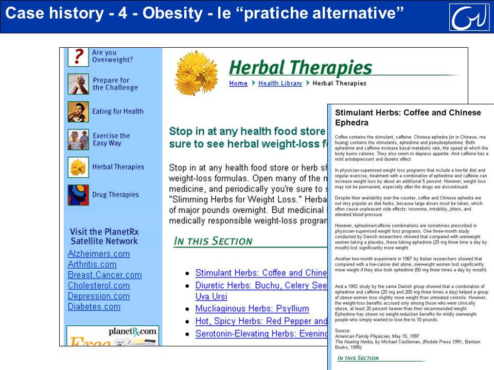Case history - 4 - Obesity - le pratiche alternative
