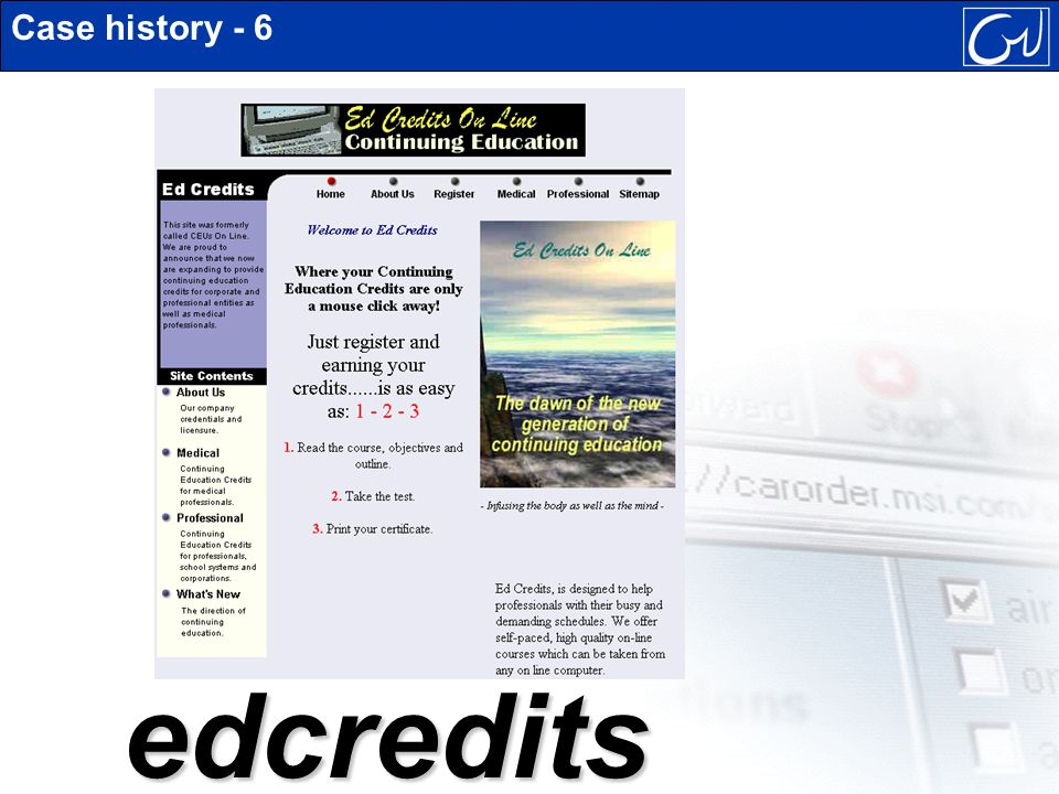 Case history - 6edcredits