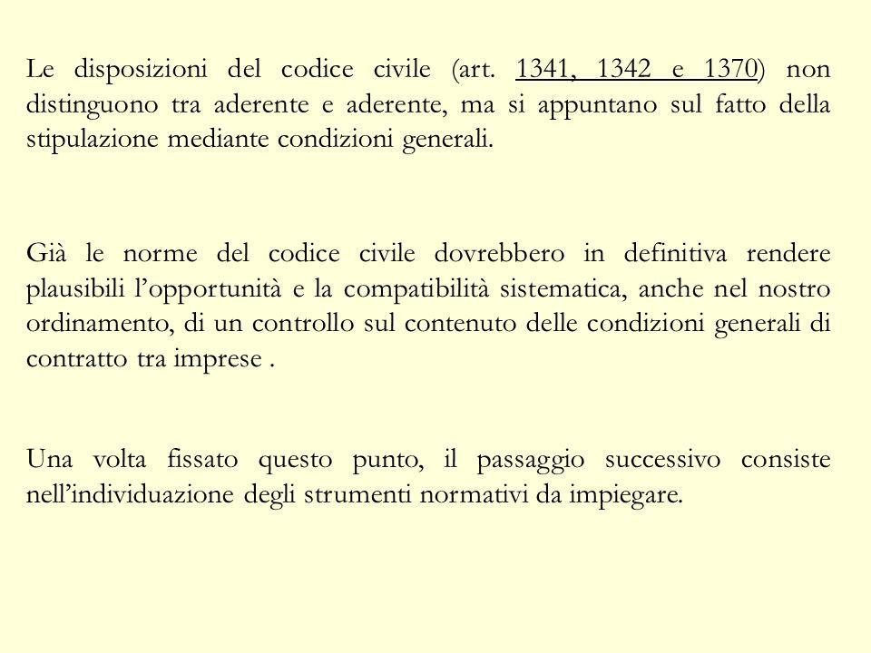 Le disposizioni del codice civile (art.