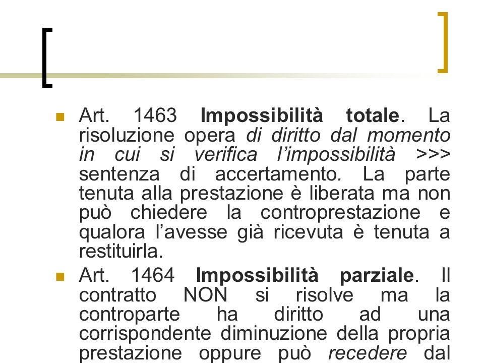 Art.1463 Impossibilità totale.