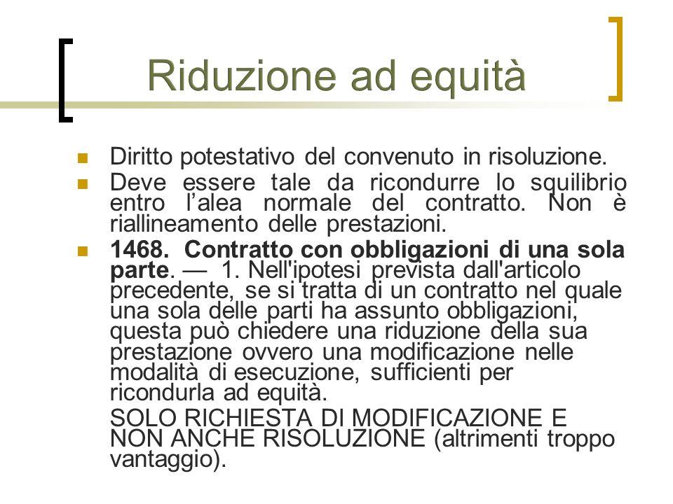 Diritto potestativo del convenuto in risoluzione.