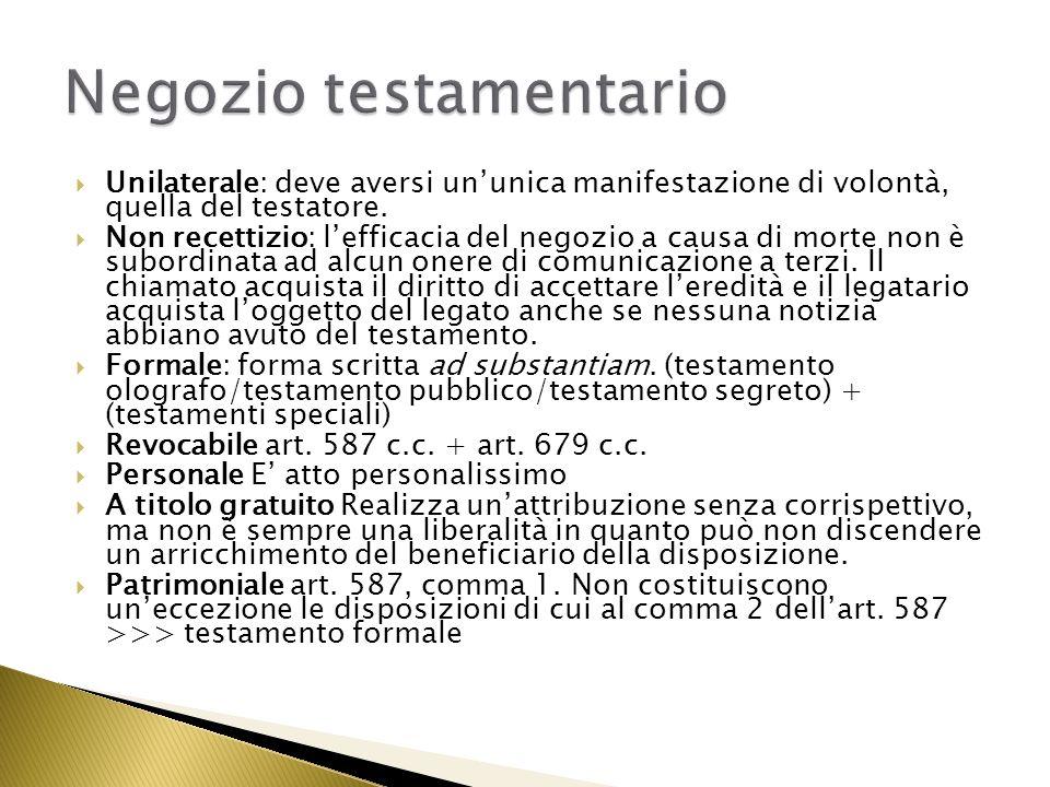 Riconoscimento e legittimazione del figlio naturale Riabilitazione dellindegno Nomina dellesecutore testamentario