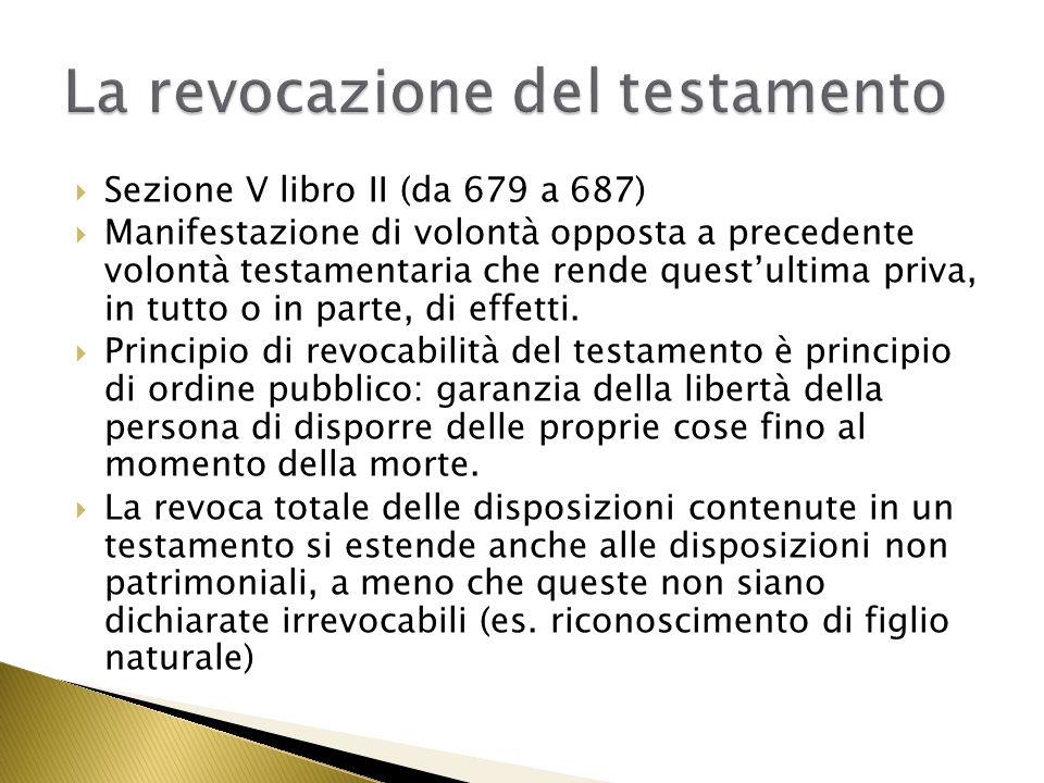 679.Revocabilità del testamento. 1.