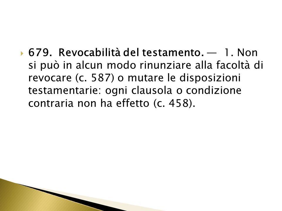 680.Revocazione espressa. 1.