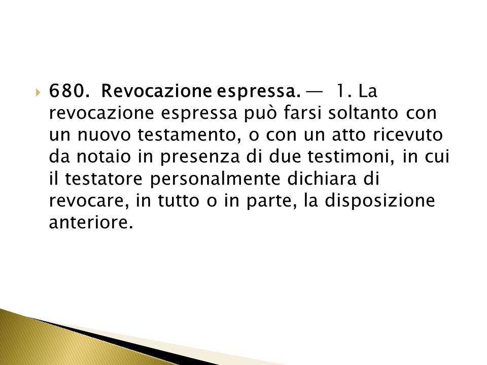 81.Revocazione della revocazione. 1.