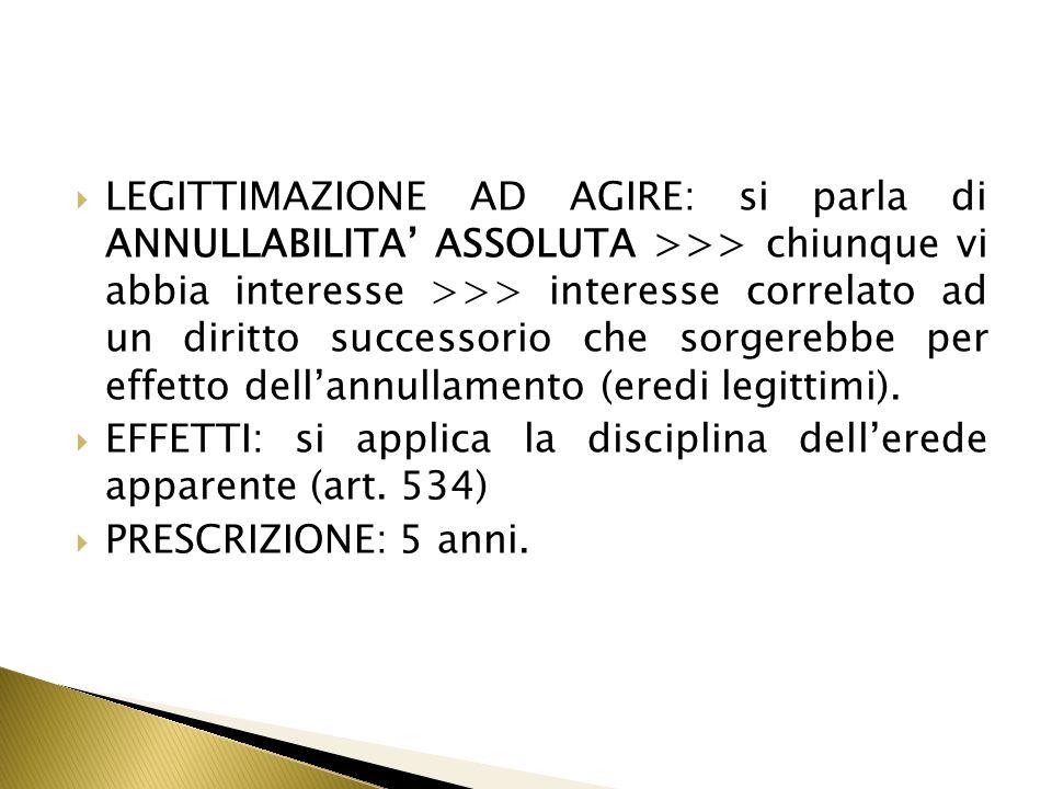 Eccezione allart.1423 c.c. = ipotesi di sanatoria di un negozio nullo.