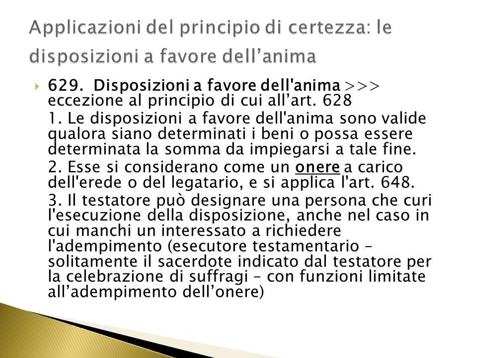 630.Disposizioni a favore dei poveri. 1.
