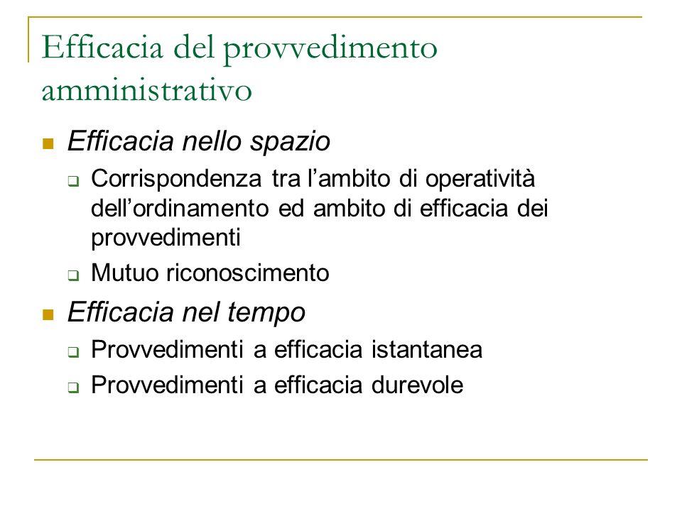 Lefficacia del provvedimento amministrativo: la disciplina positiva Art.