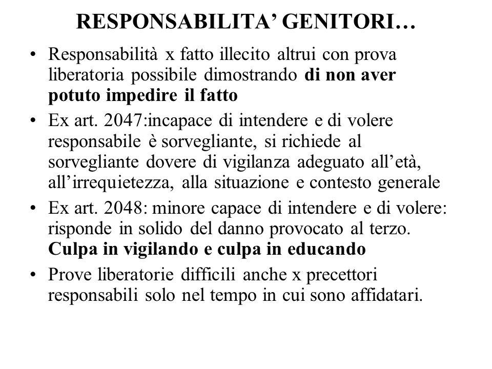 Cass.SS.UU. 27 giugno 2002,n.9346 La presunzione di responsabilità posta dallart.