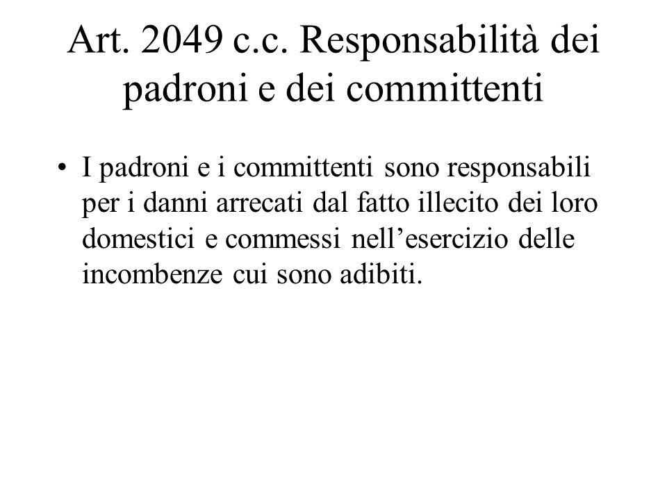 RESPONSABILITA PADRONI E COMMITTENTI art.