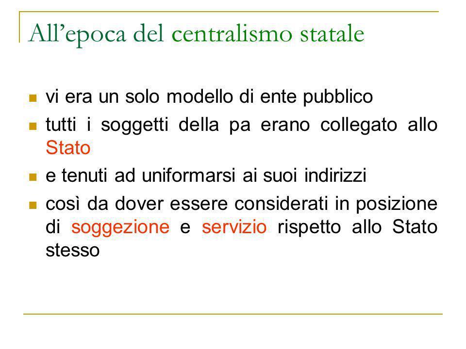 Gli enti pubblici economici A loro volta gli enti pubblici economici si divide(va) in 2 categorie: Ente pubblico economico operativo che produce direttamente per il mercato (es.