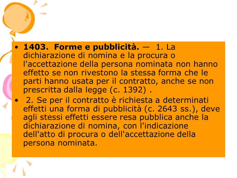 1403. Forme e pubblicità. 1.