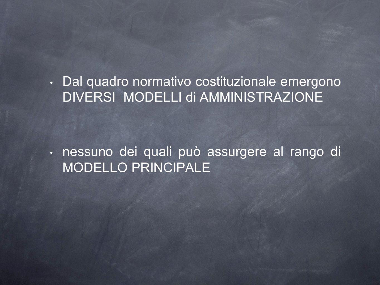 I modelli costituzionali di amministrazione lamministrazione come apparato servente del Governo (art.