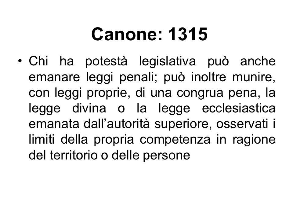 La legge penale costituisce una delle modalità dellesercizio del potere legislativo