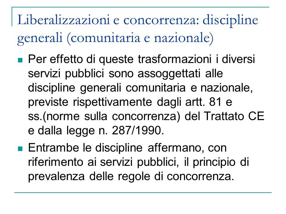 Disciplina comunitaria sulla concorrenza: Art.86 Trattato CE: 1.