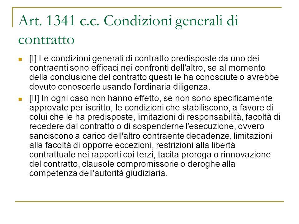 Art. 1341 c.c.