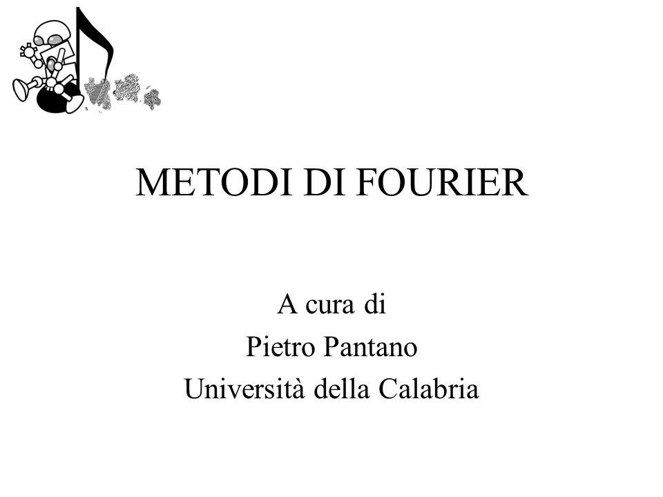 METODI DI FOURIER A cura di Pietro Pantano Università della Calabria