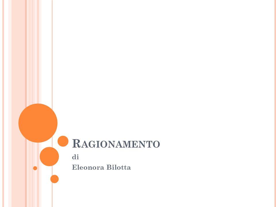 R AGIONAMENTO di Eleonora Bilotta