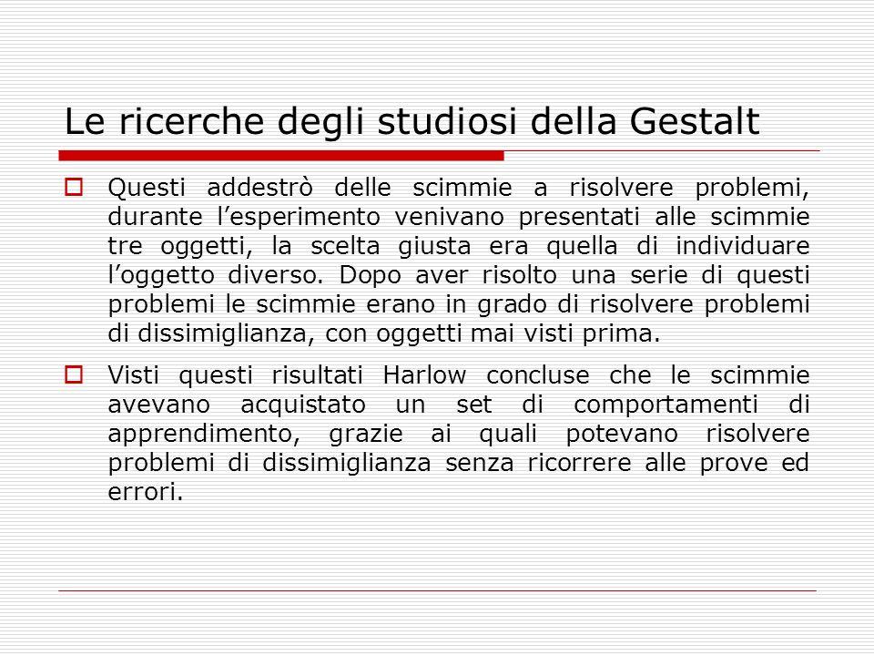 La psicologia della Gestalt I maggiori rappresentanti della psicologia della Gestalt sono Max Wertheimer, Wolfang Kohler e Kurt Koffka.