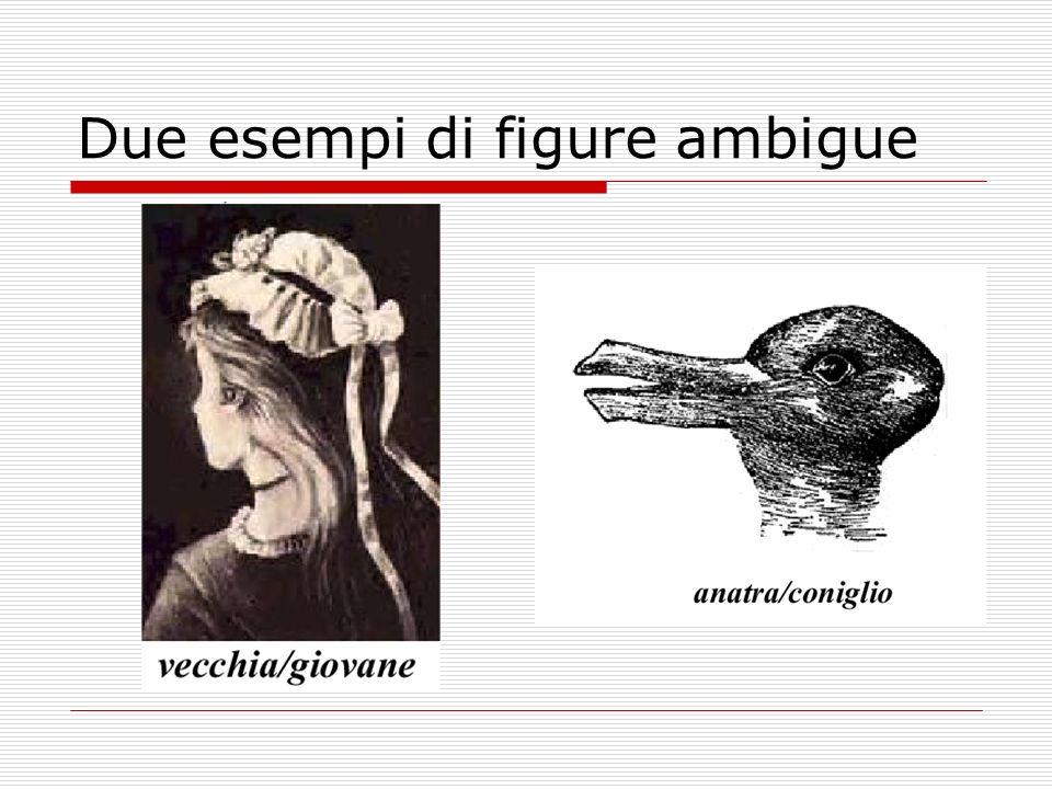 Due esempi di figure ambigue