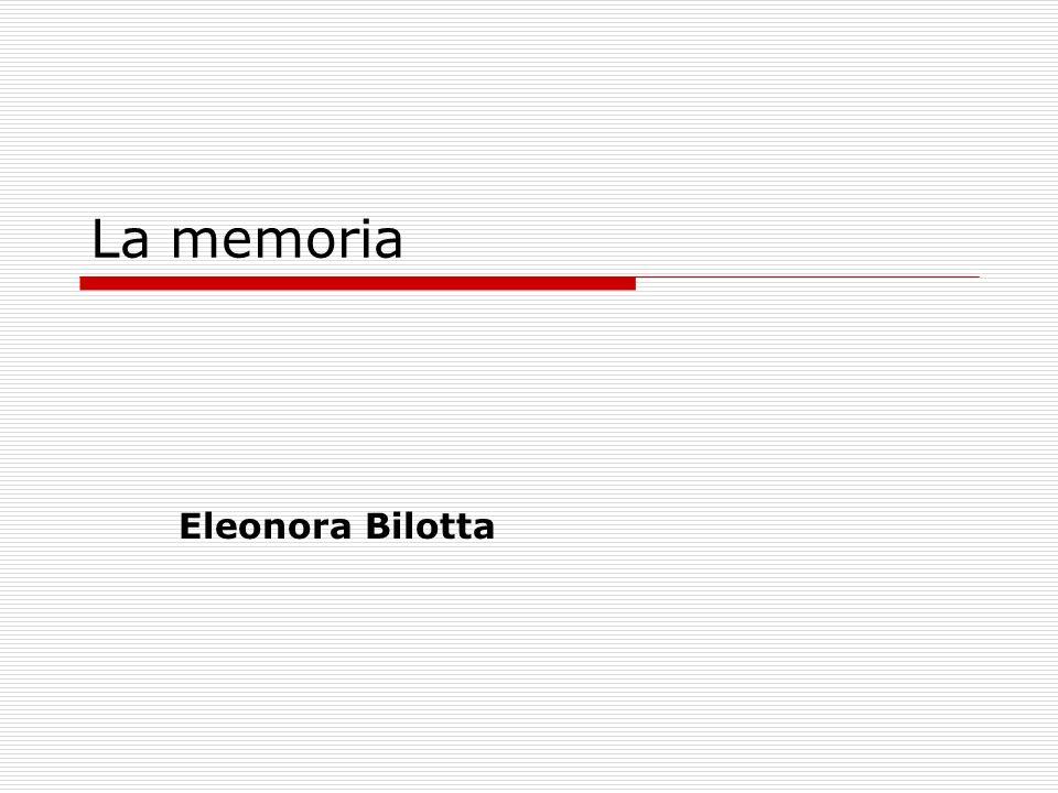 La memoria Eleonora Bilotta