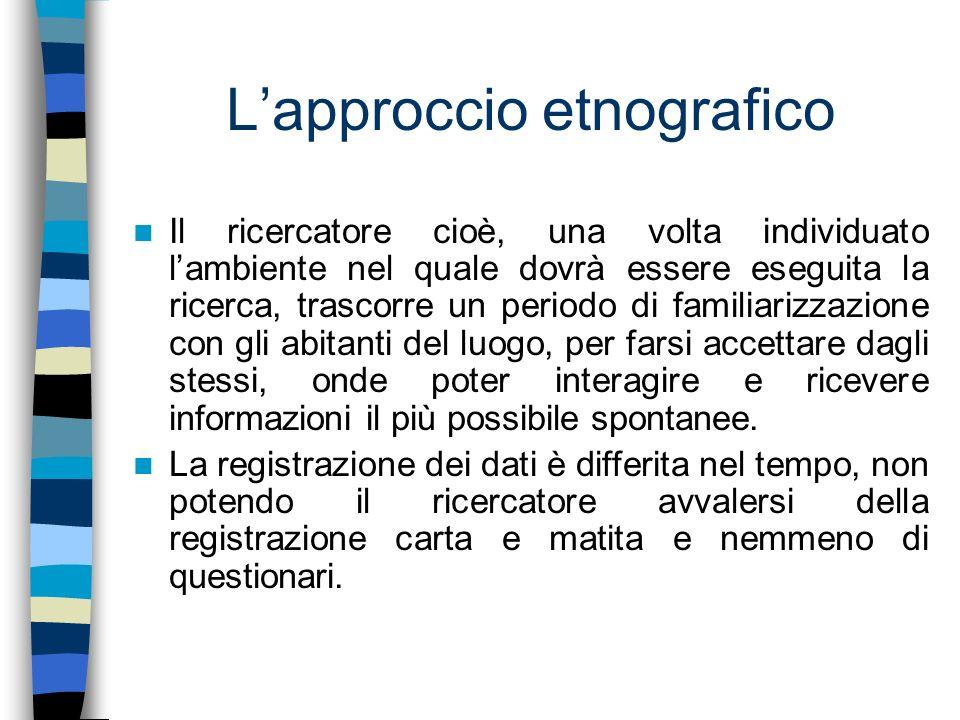 Soggetti La ricerca è stata avviata in due classi del I° Circolo Didattico di Rende.