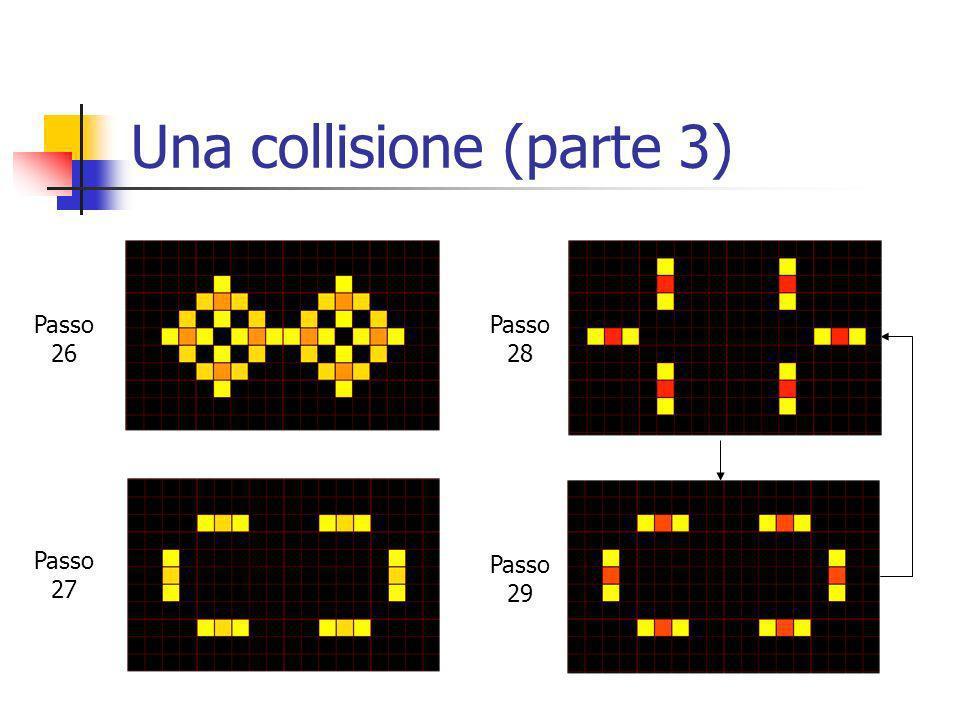 Una collisione (parte 3) Passo 26 Passo 27 Passo 28 Passo 29