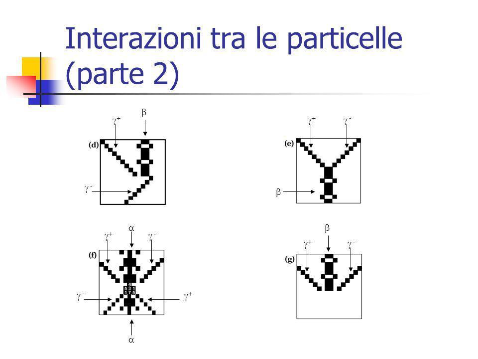 Interazioni tra le particelle (parte 2) - + + - + - - + + -