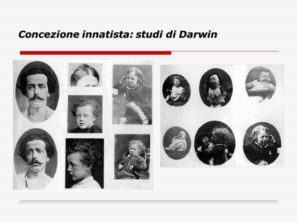 Concezione innatista: studi di Darwin