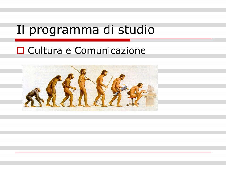 Il programma di studio La Comunicazione Non Verbale La Comunicazione Verbale